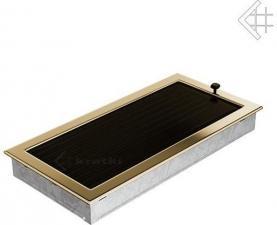 Вентиляционная решетка Kratki 22x45 Полированная латунь с жалюзи