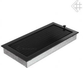 Вентиляционная решетка Kratki 22x45 Черная с жалюзи