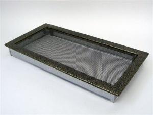 Вентиляционная решетка Kratki 22x45 Черная/латунь пористая