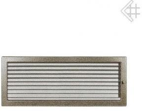 Вентиляционная решетка Kratki 22x45 Черная/латунь пористая с жалюзи