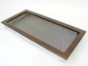 Вентиляционная решетка Kratki 22x45 Черная/медь пористая