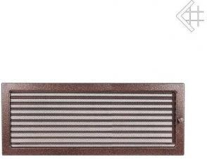 Вентиляционная решетка Kratki 22x45 Черная/медь пористая с жалюзи