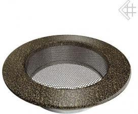 Вентиляционная решетка Kratki КРУГЛАЯ черная латунь пористая д.125