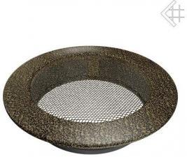 Вентиляционная решетка Kratki КРУГЛАЯ черная латунь пористая д.150