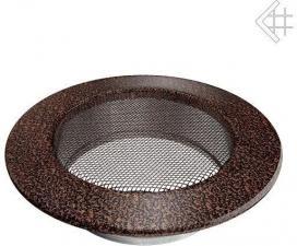 Вентиляционная решетка Kratki КРУГЛАЯ черная медь пористая д.125