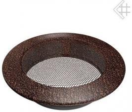 Вентиляционная решетка Kratki КРУГЛАЯ черная медь пористая д.150