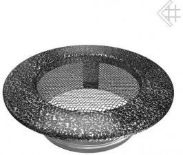 Вентиляционная решетка Kratki КРУГЛАЯ черная хром пористая д.100