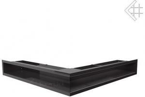 Вентиляционная решетка Kratki Люфт угловая стандарт черная 90