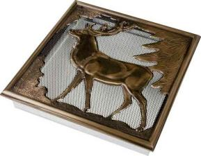 Вентиляционная решетка Kratki Олень 30x30