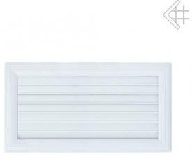 Вентиляционная решетка Kratki Оскар белая с воздушной системой с жалюзи 17x30