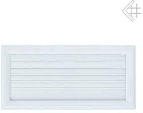 Вентиляционная решетка Kratki Оскар белая с воздушной системой с жалюзи 17x37