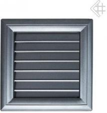 Вентиляционная решетка Kratki Оскар графит с воздушной системой с жалюзи 17x17