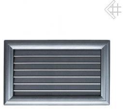 Вентиляционная решетка Kratki Оскар графит с воздушной системой с жалюзи 17x30