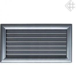 Вентиляционная решетка Kratki Оскар графит с воздушной системой с жалюзи 17x37