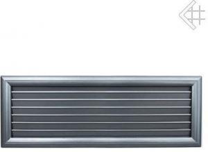 Вентиляционная решетка Kratki Оскар графит с воздушной системой с жалюзи 17x49