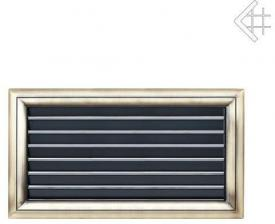 Вентиляционная решетка Kratki Оскар латунь с воздушной системой с жалюзи 17x30