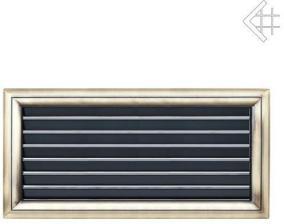 Вентиляционная решетка Kratki Оскар латунь с воздушной системой с жалюзи 17x37