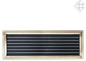 Вентиляционная решетка Kratki Оскар латунь с воздушной системой с жалюзи 17x49