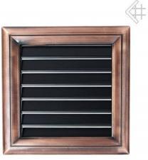 Вентиляционная решетка Kratki Оскар медь с воздушной системой с жалюзи 17x17