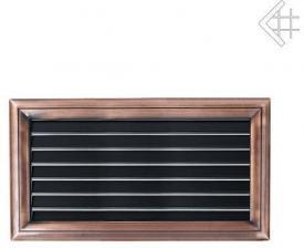 Вентиляционная решетка Kratki Оскар медь с воздушной системой с жалюзи 17x30