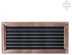 Вентиляционная решетка Kratki Оскар медь с воздушной системой с жалюзи 17x37