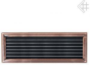 Вентиляционная решетка Kratki Оскар медь с воздушной системой с жалюзи 17x49