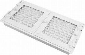 Вентиляционная решетка Kratki Ретро белая двойная 44x22