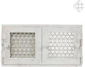 Вентиляционная решетка Kratki Ретро белая с двумя дверками открывающаяся 17x17