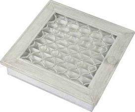 Вентиляционная решетка Kratki Ретро белая с одной дверкой выдвигающаяся 17x17
