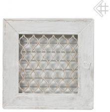 Вентиляционная решетка Kratki Ретро белая с одной дверкой выдвижная