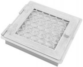 Вентиляционная решетка Kratki Ретро белая с одной дверкой открывающейся 22x22