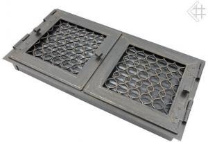 Вентиляционная решетка Kratki Ретро графит двойная 44x22