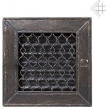 Вентиляционная решетка Kratki Ретро графит с одной дверкой выдвижная