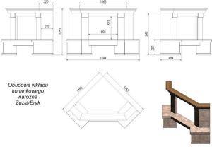 Фото чертежа и размера облицовки Amore угловой (Zuzia, Eryk)