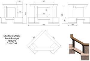 Фото чертежа и размера облицовки Etna угловой (Zuzia, Eryk)