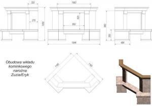 Фото чертежа и размера облицовки Rimini угловой (Zuzia, Eryk)