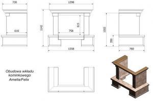 Фото чертежа и размера облицовки Taormina (Amelia, Felix)