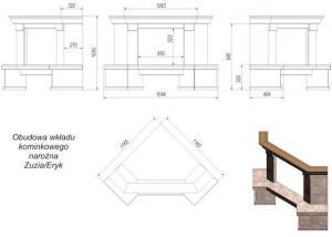 Фото чертежа и размера облицовки Taormina угловой (Zuzia, Eryk)