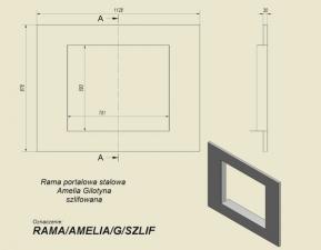 Фото чертежа и размера портала стальной для топок Amelia/G и Felix/G