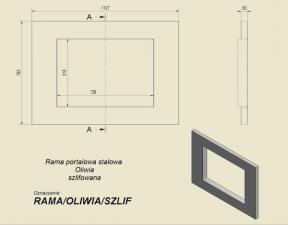 Фото чертежа и размера портала стальной для топок Oliwia, Wiktor