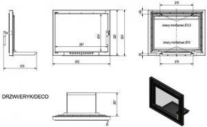 Фото чертежа и размера дверцы DECO в сборе (Eryk)
