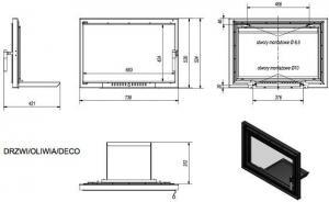 Фото чертежа и размера дверцы DECO в сборе (Oliwia)