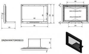 Фото чертежа и размера дверцы DECO в сборе (Wiktor)