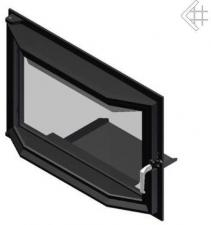 Дверца в сборе для топок Oliwia/Wiktor (призма)