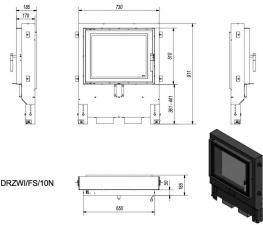 Фото чертежа и размера дверцы под кирпичную кладку FS/10N