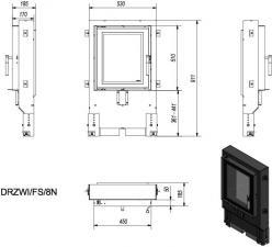Фото чертежа и размера дверцы под кирпичную кладку FS/8N