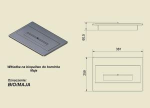 Фото чертежа и размера контейнера для биотоплива Maja, Eryk, Wiktor, Felix