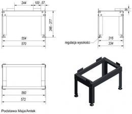 Фото чертежа и размера металлического подиума под топку (Maja, Antek)