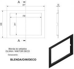 Фото чертежа и размера рамки к топкам Deco (Oliwia/Wiktor)
