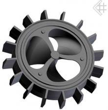 Чугунный теплоаккумулирующий диск д.200, 21кг